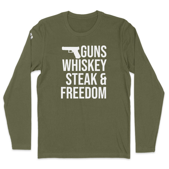 Guns Whiskey Steak And Freedom Mens Apparel