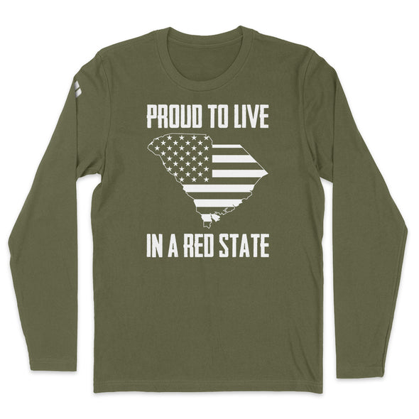 Proud To Live In A Red State - South Carolina Mens Apparel