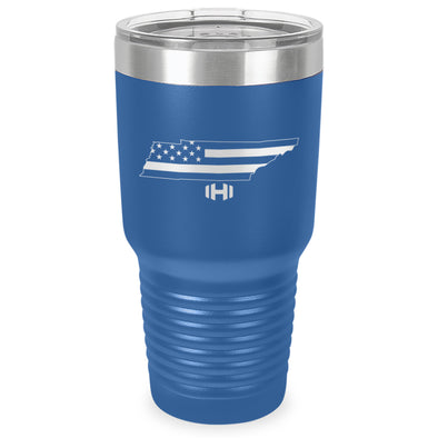 Tennessee USA Flag Laser Etched Tumbler