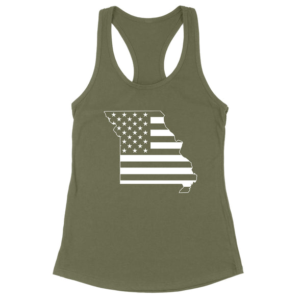 Missouri USA Flag Womens Apparel