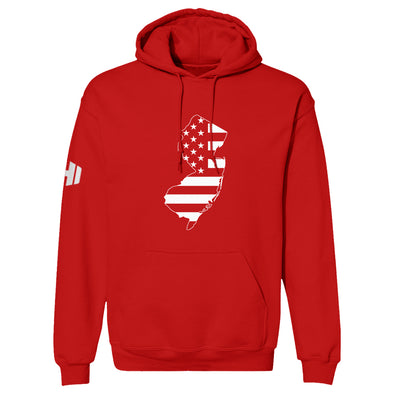 New Jersey USA Flag Hoodie