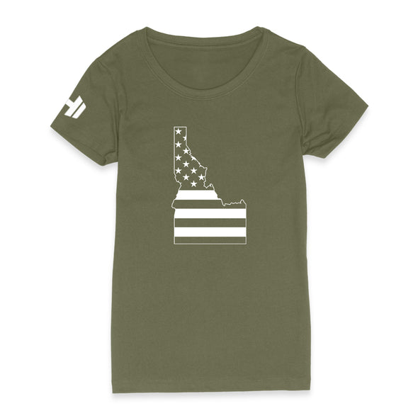 Idaho USA Flag Womens Apparel