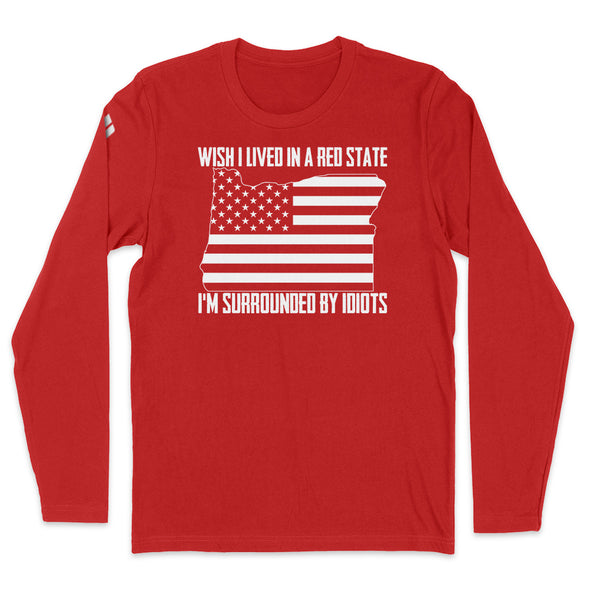 Wish I Lived In A Red State - Oregon Mens Apparel
