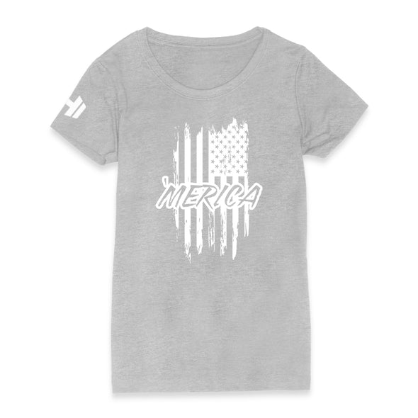 Merica Flag Womens Apparel