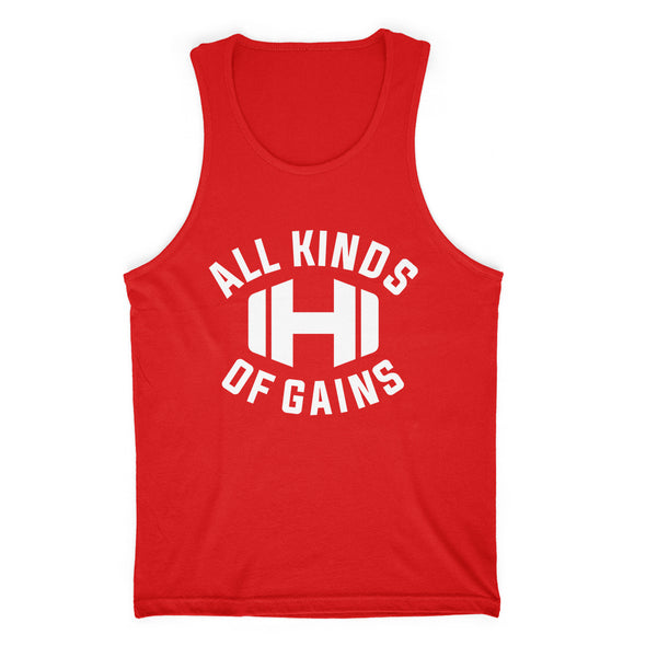 Dumbbell All Kinds Of Gains Mens Apparel