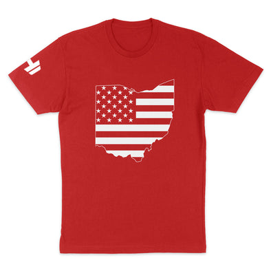 Ohio USA Flag Mens Apparel