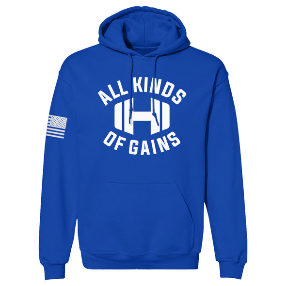 Dumbbell All Kinds Of Gains Hoodie