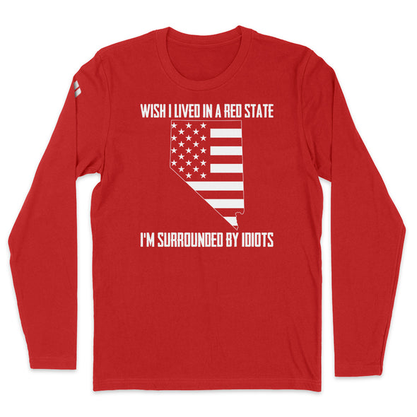 Wish I Lived In A Red State - Nevada Mens Apparel