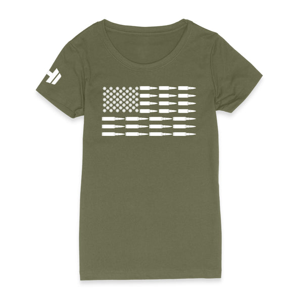Bullet American Flag Womens Apparel