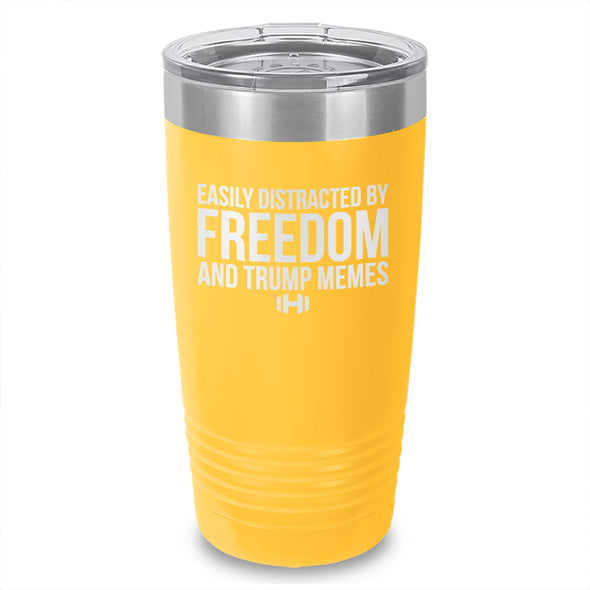 Easily Distracted By Freedom Laser Etched Tumbler