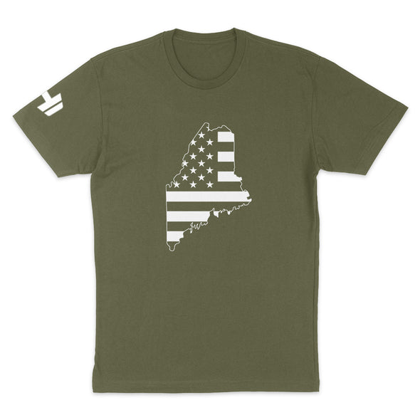 Maine USA Flag Mens Apparel