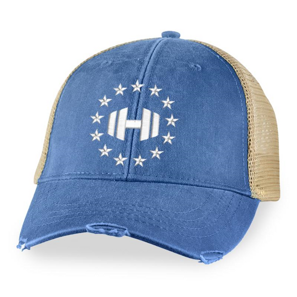Dumbbell Logo 13 Stars Trucker Hat