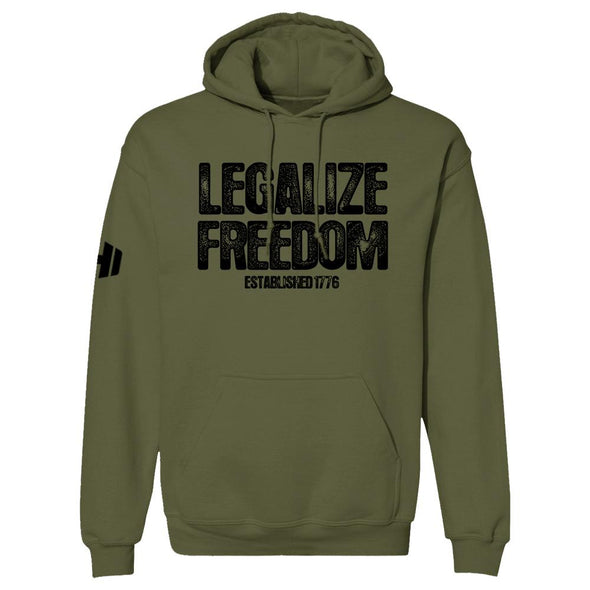 Legalize Freedom Black Print Hoodie