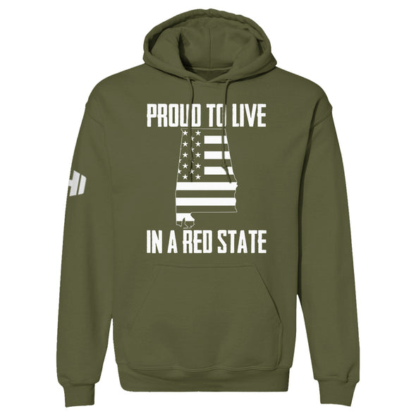 Proud To Live In A Red State - Alabama Hoodie