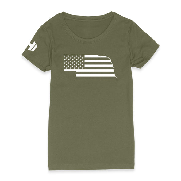 Nebraska USA Flag Womens Apparel