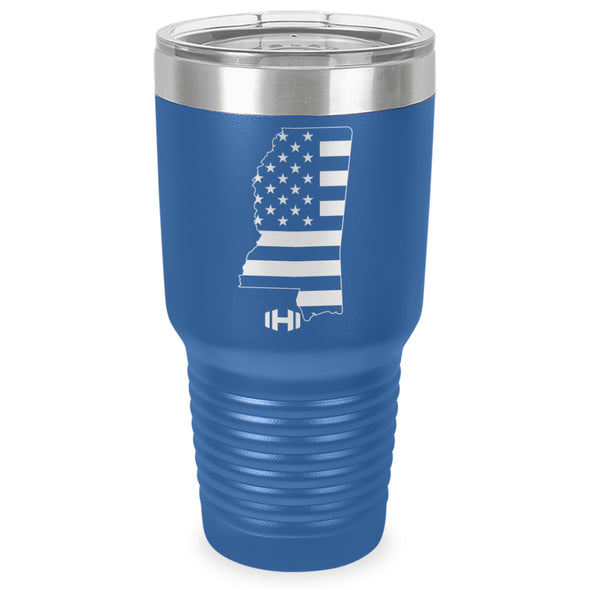 Mississippi USA Flag Laser Etched Tumbler