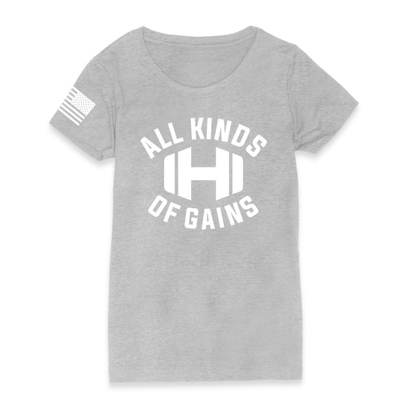 Dumbbell All Kinds Of Gains Womens Apparel