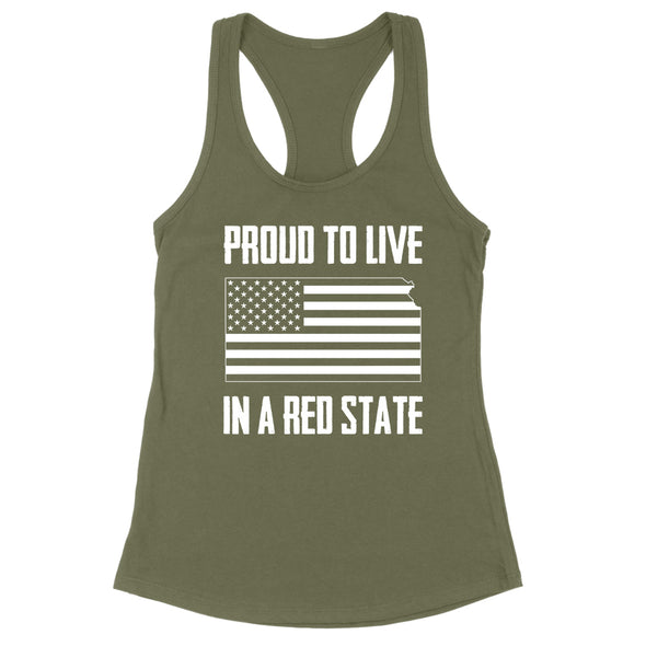 Proud To Live In A Red State - Kansas Womens Apparel