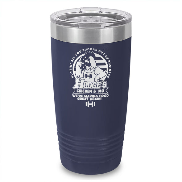 Hodges Chicken And Mo Laser Etched Tumbler
