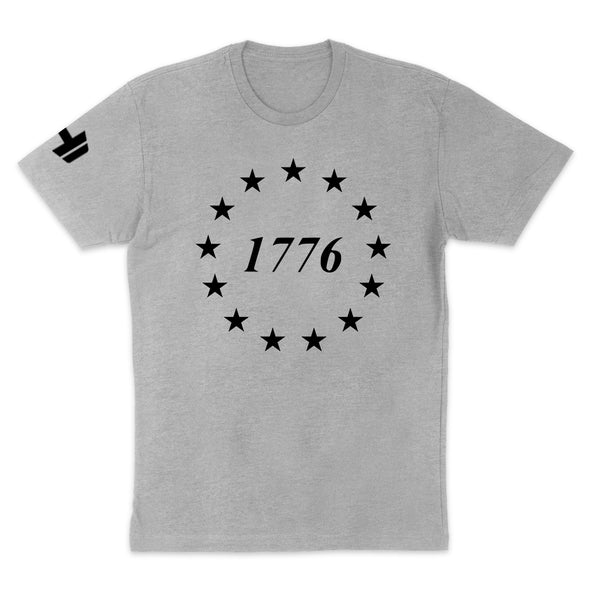 1776 Stars Black Print Mens Apparel