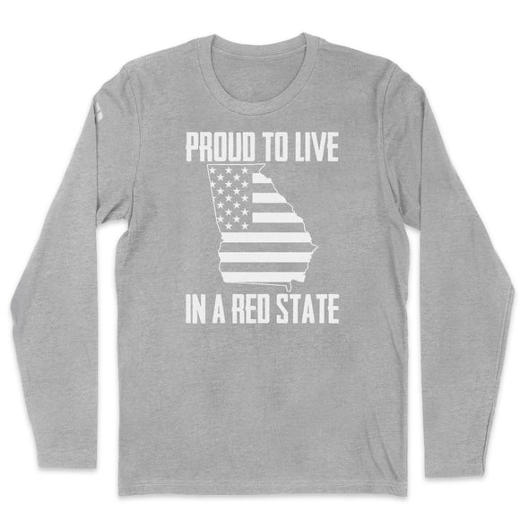 Proud To Live In A Red State - Georgia Mens Apparel