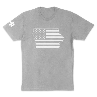 Iowa USA Flag Mens Apparel