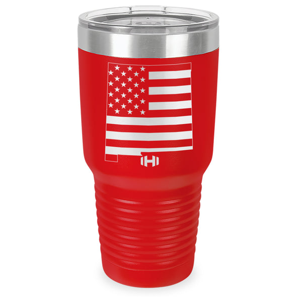 New Mexico USA Flag Laser Etched Tumbler