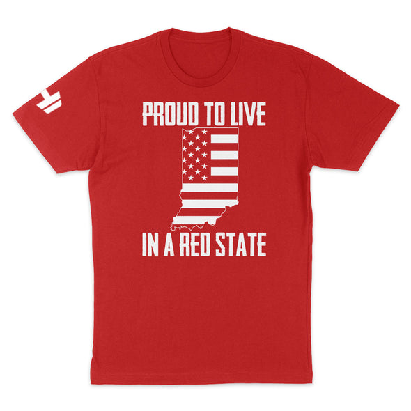 Proud To Live In A Red State - Indiana Mens Apparel