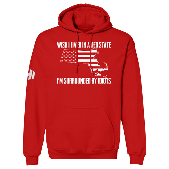 Wish I Lived In A Red State - Massachusetts Hoodie