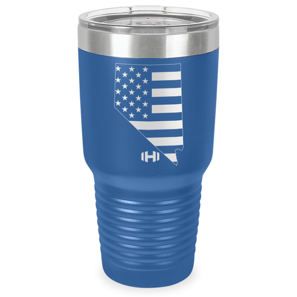 Nevada USA Flag Laser Etched Tumbler