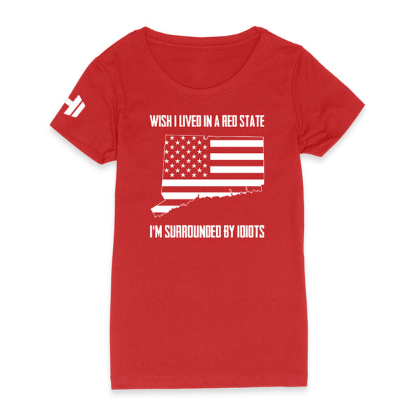 Wish I Lived In A Red State - Connecticut Womens Apparel