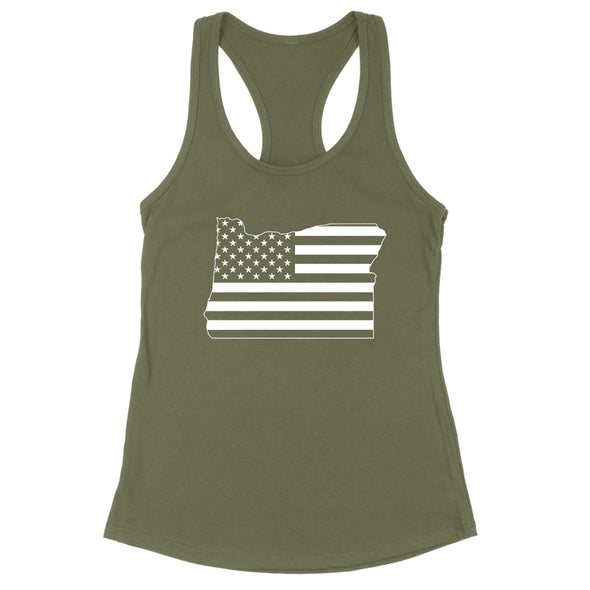 Oregon USA Flag Womens Apparel