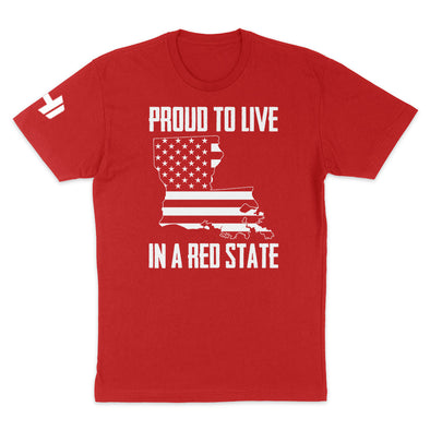 Proud To Live In A Red State - Louisiana Mens Apparel