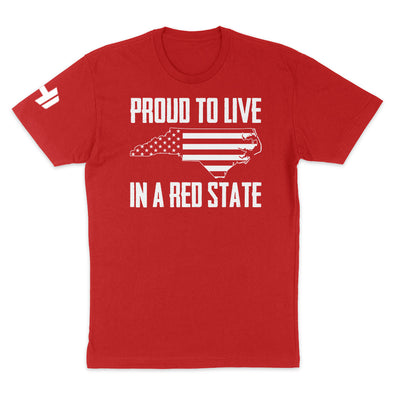 Proud To Live In A Red State - North Carolina Mens Apparel