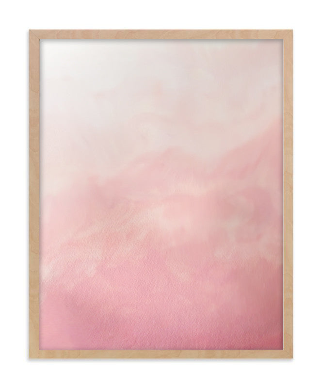 Blush Pink Ombre Art Print (2 colors)