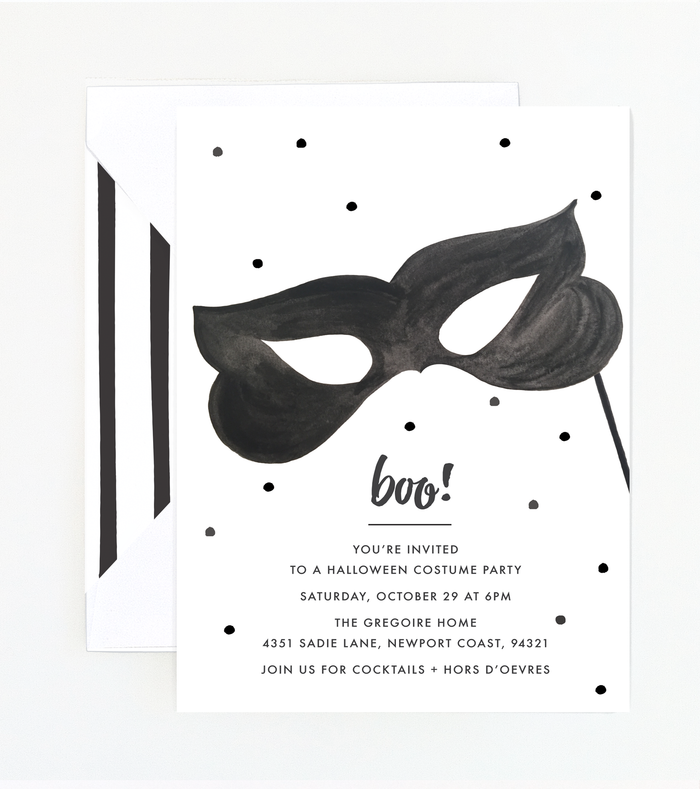 Boo! Halloween Party Invitation