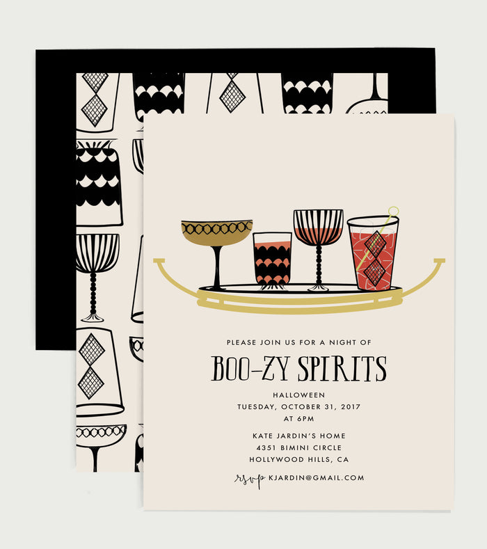 Boozy Spirits Halloween Party Invitation