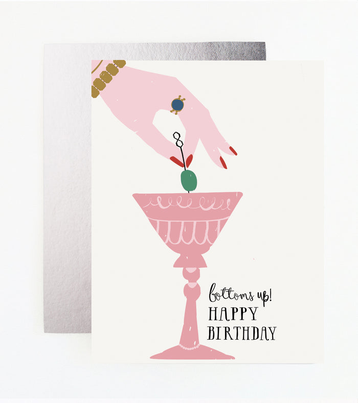 Bottoms Up! Birthday Card
