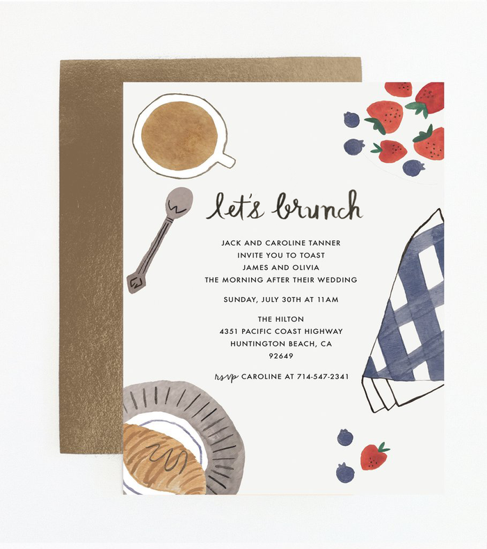 Let's Brunch Party Invitation