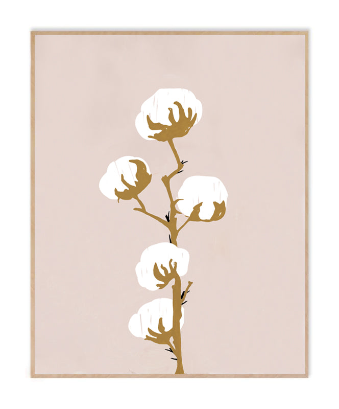 Cotton Bulbs 1 Art Print
