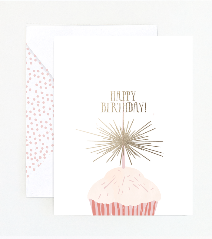 Sparkle Cupcake Birthday Card