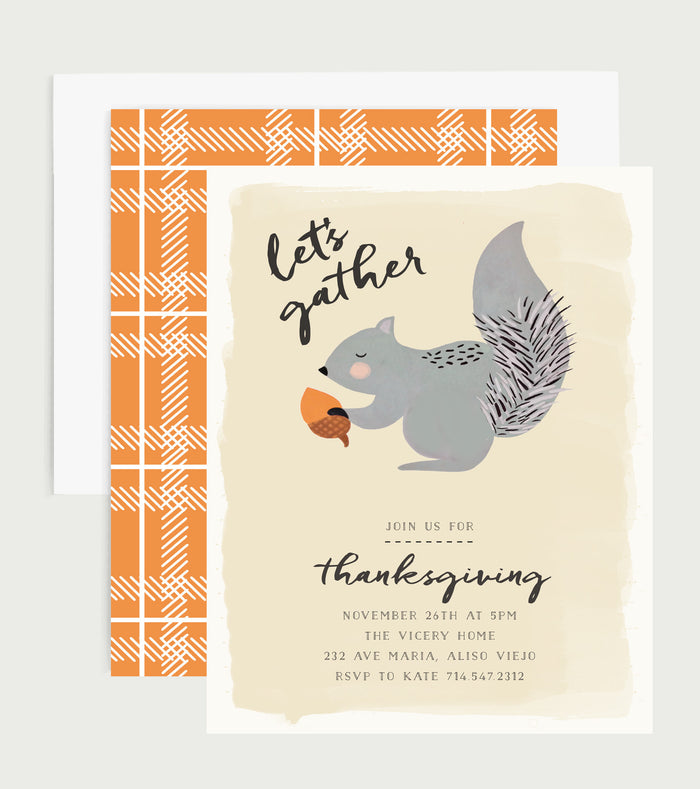 Let's Gather Thanksgiving Invitation