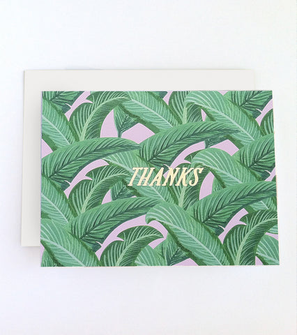 Beverly Hills Gold Foil Thank You Card