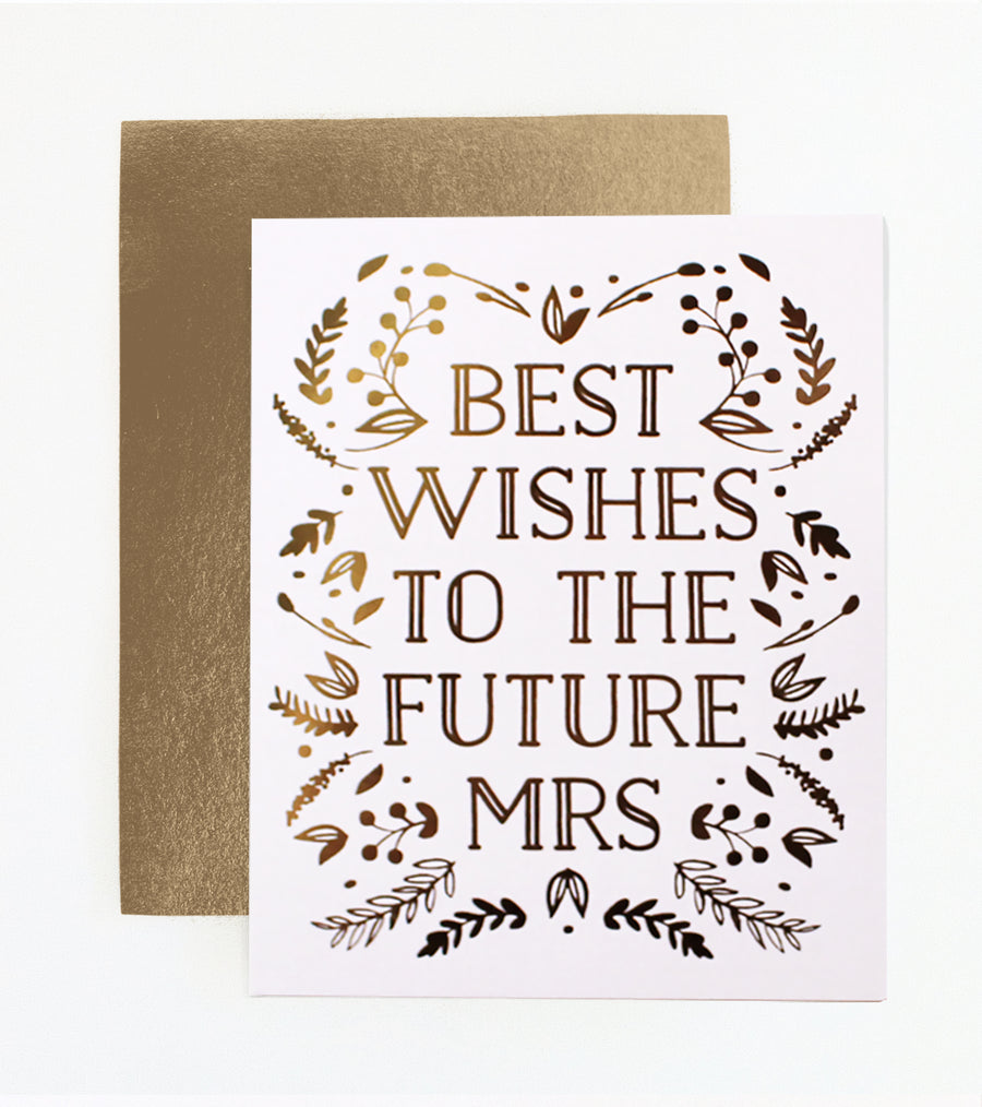 Best Wishes to the Future Mrs Bridal Shower Card