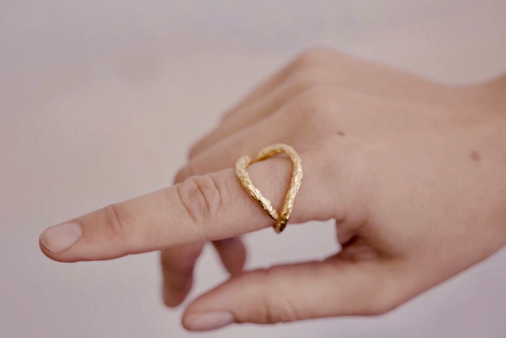 Gold Open Twig Ring