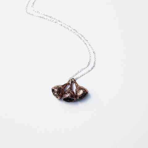 Seed Pod Necklace Bronze
