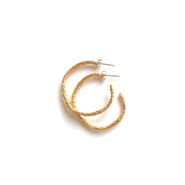 "Gold Twig Hoops ""Everyday"""
