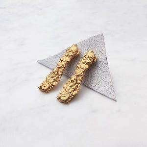 Long Bark Studs Gold