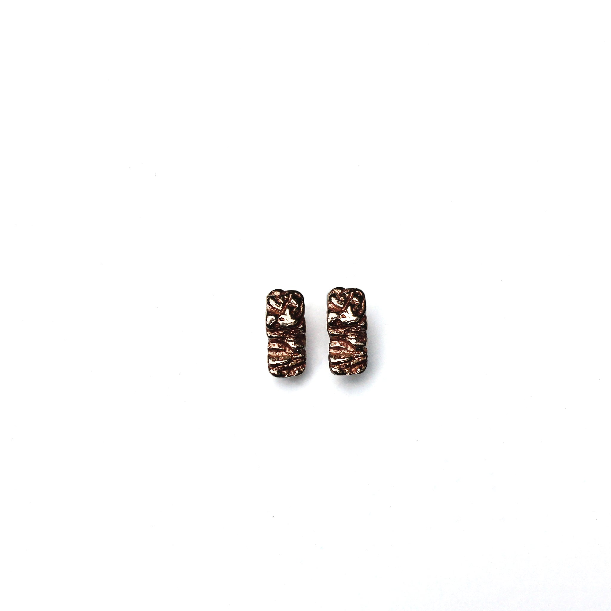 Small Bark Studs Bronze