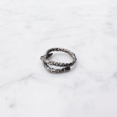 Twig Love Ring Silver